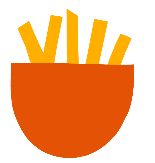 ORANGE BOWL OF FRIES